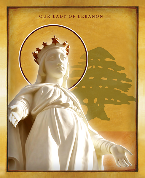 Our Lady Of Lebanon | Icon by Chady Elias | Holy Brush