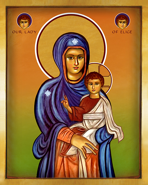 Our Lady of Elige -color | Icon by Chady Elias | Holy Brush