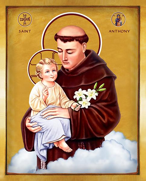 Saint Anthony | Icon by Chady Elias | Holy Brush