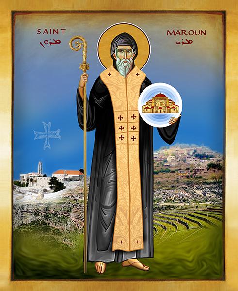 Saint Maroun | Icon by Chady Elias | Holy Brush