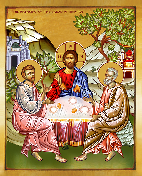 THE BREAKING OF THE BREAD AT EMMAUS | Icon by Chady Elias | Holy Brush