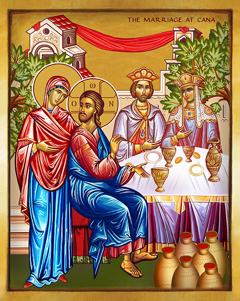 THE MARRIAGE AT CANA | Wedding at Cana | Icon by Chady Elias | Holy Brush