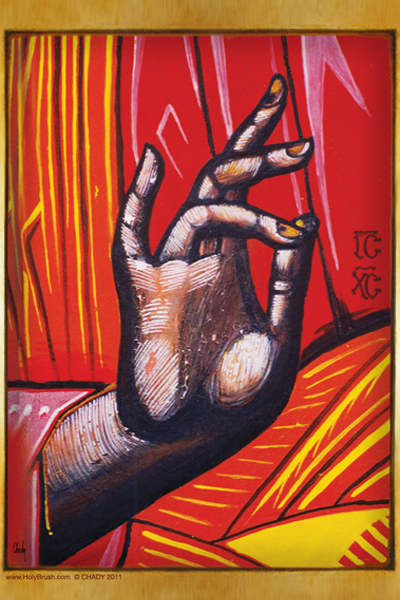 The Blessing Hand | Icon by Chady Elias | Holy Brush