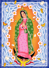Our Lady of Guadalupe Modern Blue | Icon by Chady Elias | Holy Brush