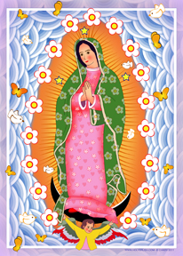 Our Lady of Guadalupe Modern Pink | Icon by Chady Elias | Holy Brush