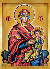 Mary and Child in Majesty | Icon by Chady Elias | Holy Brush