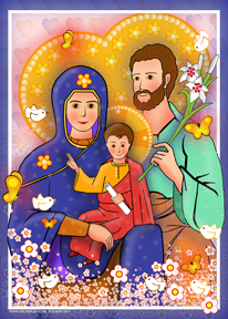 Holy Family Modern | Icon by Chady Elias | Holy Brush