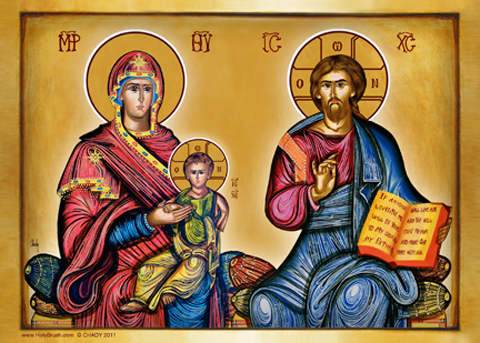 Christ and Mary | Icon by Chady Elias | Holy Brush