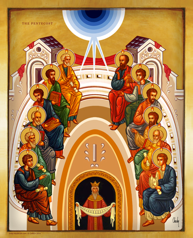 Decent of the Holy Spirit | Icon by Chady Elias | Holy Brush