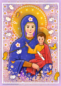 Mary and Jesus Modern | Icon by Chady Elias | Holy Brush