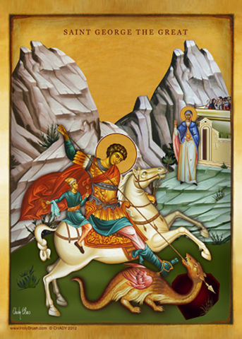 Saint George The Great | Icon by Chady Elias | Holy Brush
