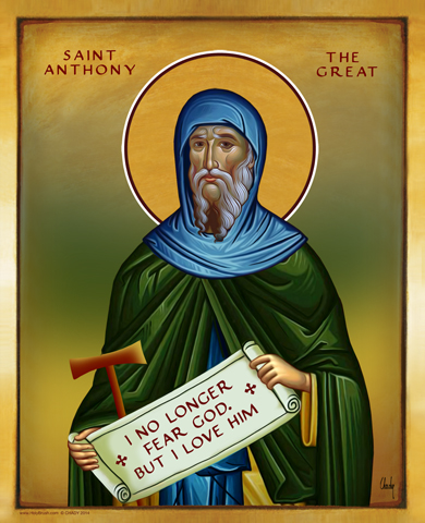 Saint Anthony The Great | Icon by Chady Elias | Holy Brush