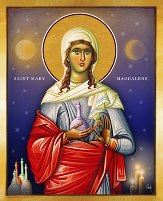 Saint Marie Magdalen | Icon by Chady Elias | Holy Brush