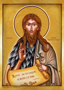 St. John The Forerunner, Byzantine Icon | Icon by Chady Elias | Holy Brush