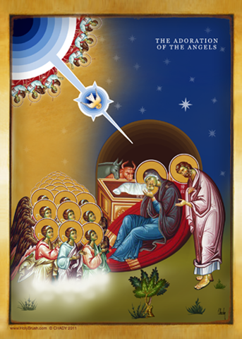 The Adoration of The Angels | Icon by Chady Elias | Holy Brush