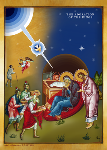 The Adoration of The Kings | Icon by Chady Elias | Holy Brush