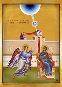 The Anunciation of the Theotokos | Icon by Chady Elias | Holy Brush