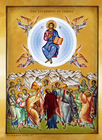 The Ascension of Christ | Icon by Chady Elias | Holy Brush