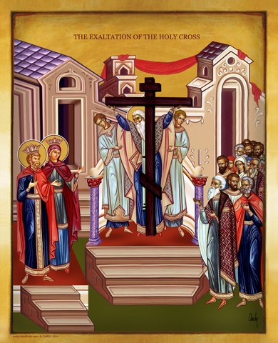 The Exaltation of The Holycross | Icon by Chady Elias | Holy Brush