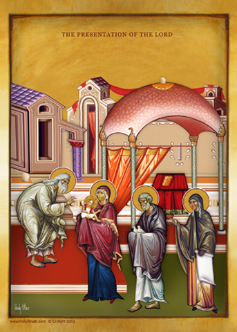 The Presentation of the Lord | Icon by Chady Elias | Holy Brush