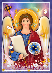 The Guardian Angel Modern | Icon by Chady Elias | Holy Brush