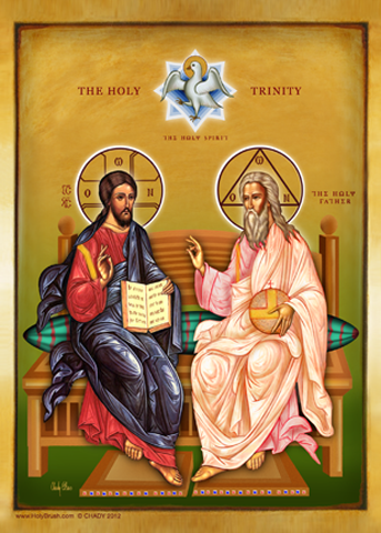 The Most Holy Trinity | Icon by Chady Elias | Holy Brush