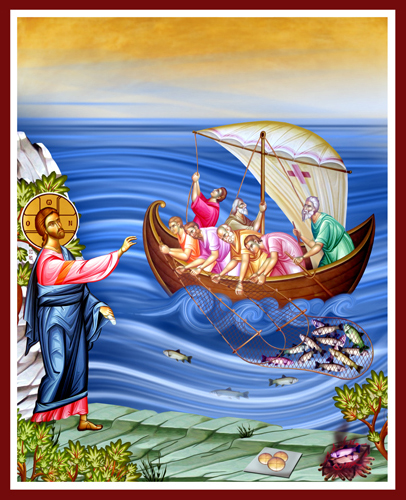 Fishing Icon | Icon by Chady Elias | Holy Brush