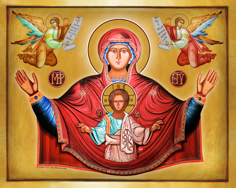 Our Lady of the Angels | Icon by Chady Elias | Holy Brush