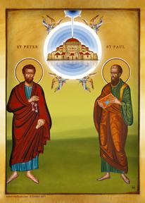 Saint Peter & Paul | Icon by Chady Elias | Holy Brush