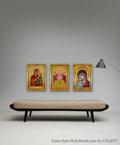 virgin Icons from HolyBrush.com by CHADY Elias